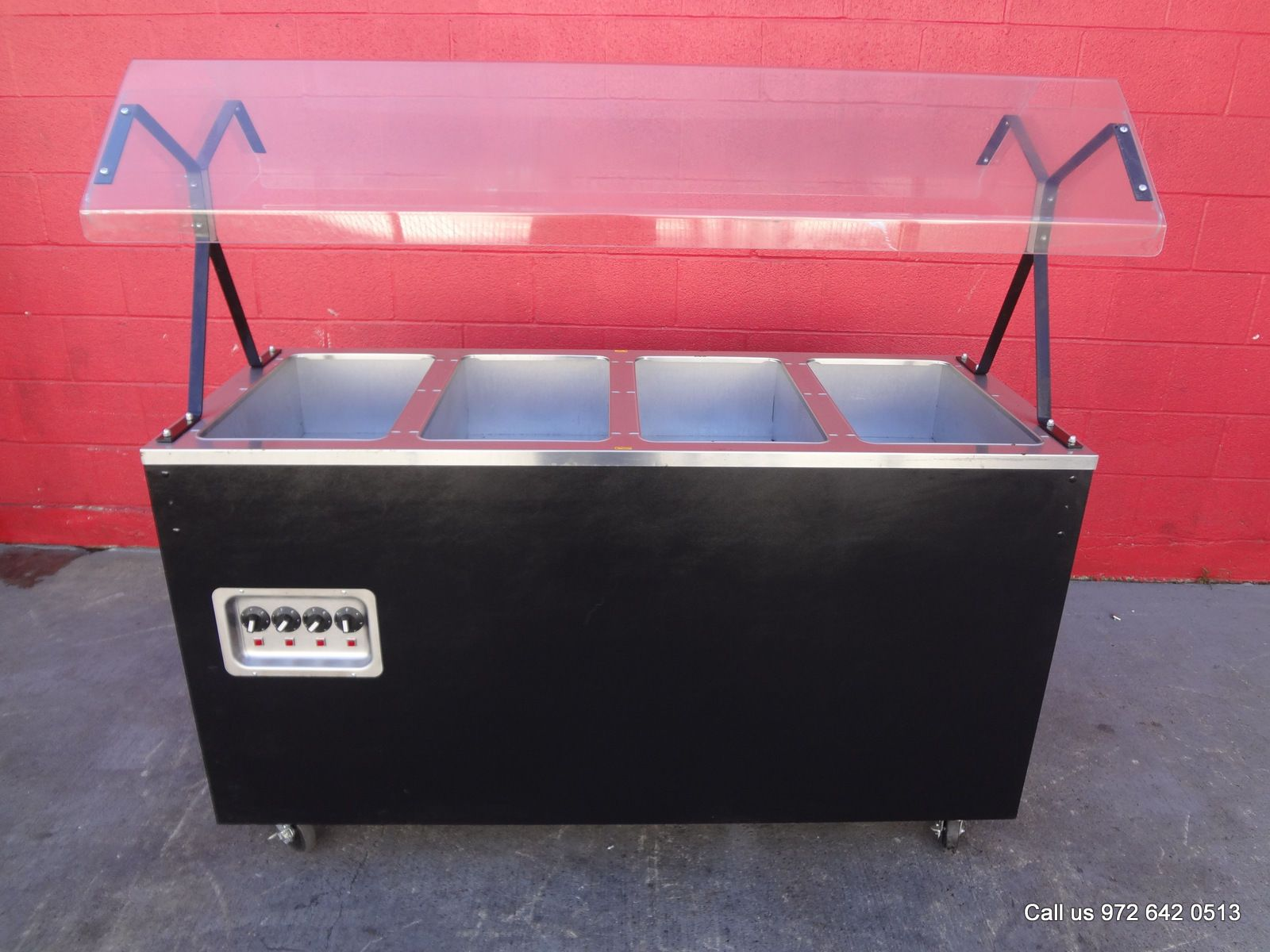 Dallas inventory vollrath 60 electric steam hot food buffet table 4 wells with sneeze guard - Sneeze guard for steam table ...