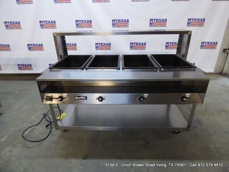 Dallas Inventory Vollrath ServeWell Well Hot Food Steam Table - 4 well gas steam table