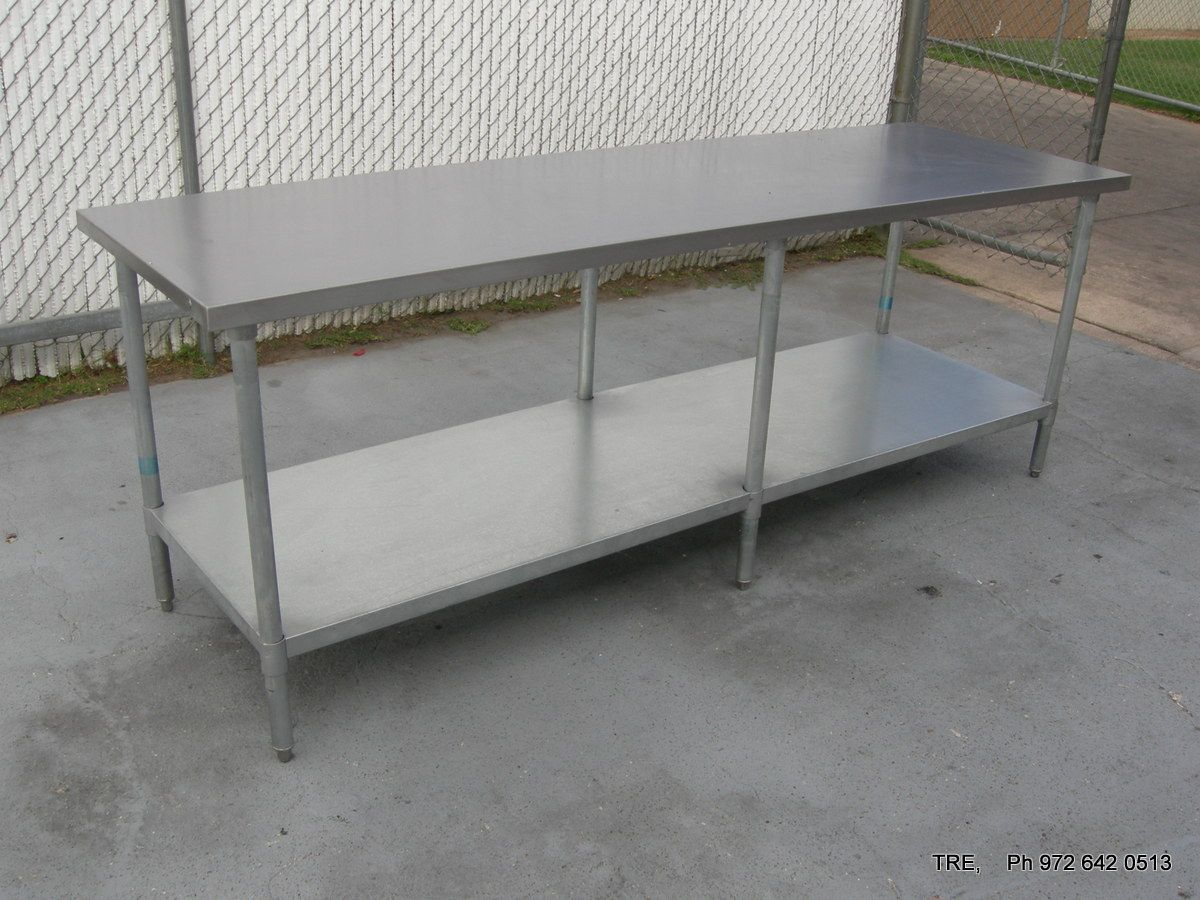 All Inventory STAINLESS STEEL WORK PREPARATION TABLE X - Stainless steel work table price