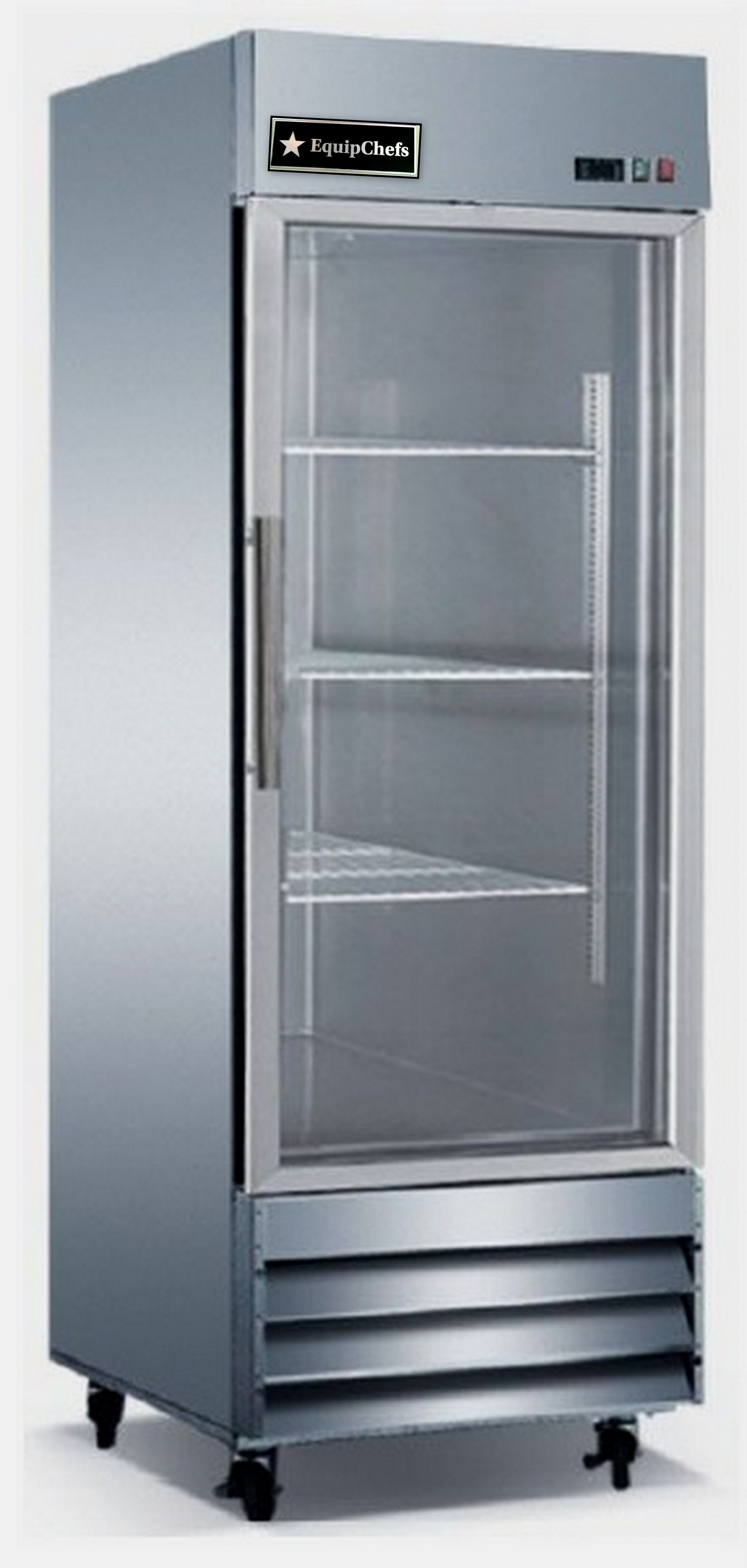 Houston inventory new equipchefs cfd 1rr g reach in for 1 glass door refrigerator