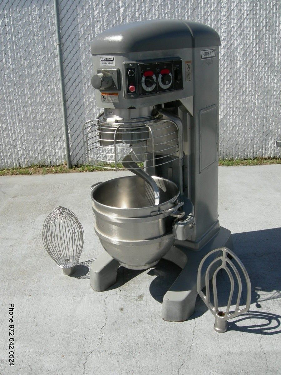 HOBART LEGACY 60QT DOUGH MIXER WITH PADDLE HOOK AND WHISK