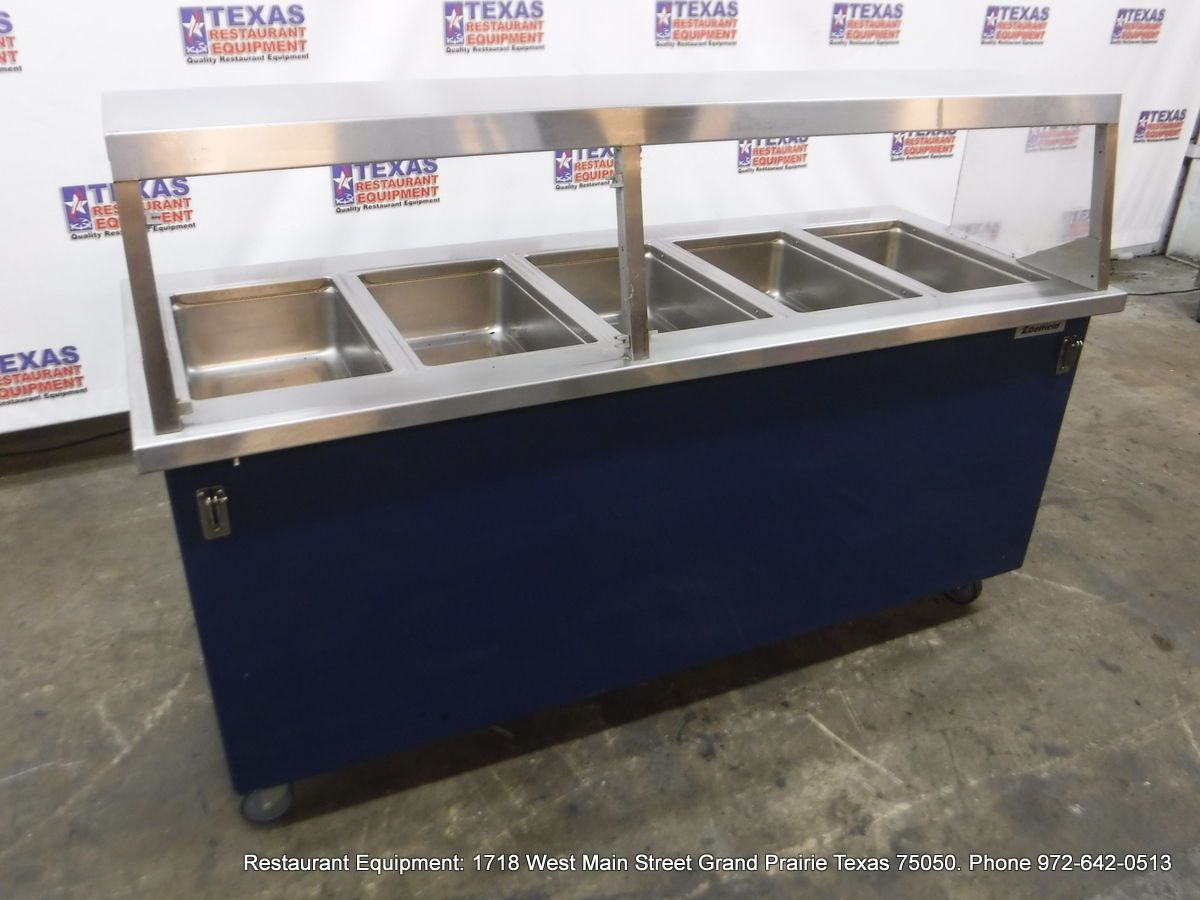 Dallas Inventory Delfield Electric Wells Steam Table With Sneeze - Restaurant equipment steam table