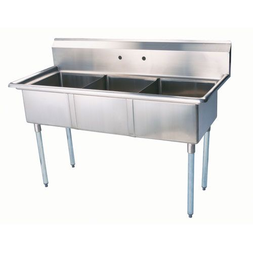 New Greenworld 3 Compartment Sink No Drainboard