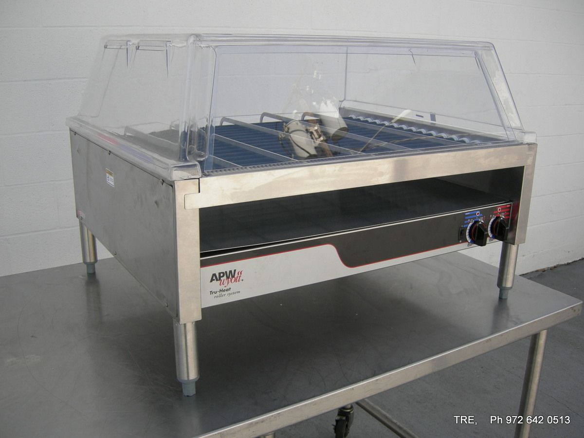 All Inventory APW WYOTT ELECTRIC TRUHEAT HOT DOG ROLLER - Apw wyott steam table